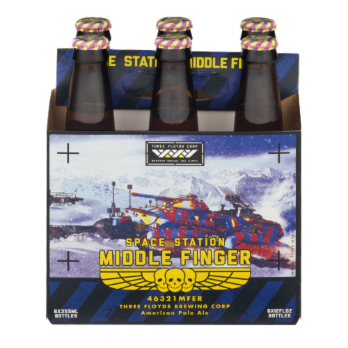 Three Floyds Space Station Middle Finger American Pale Ale Perspective: front