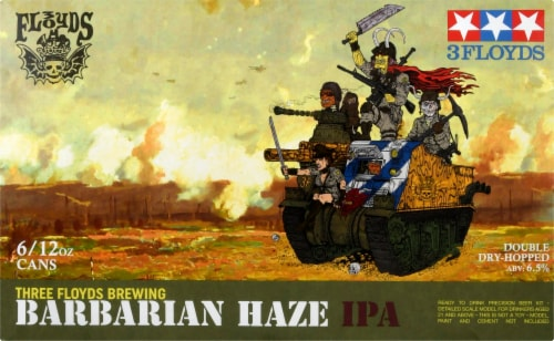 Three Floyds Brewing Barbarian Haze IPA Perspective: front