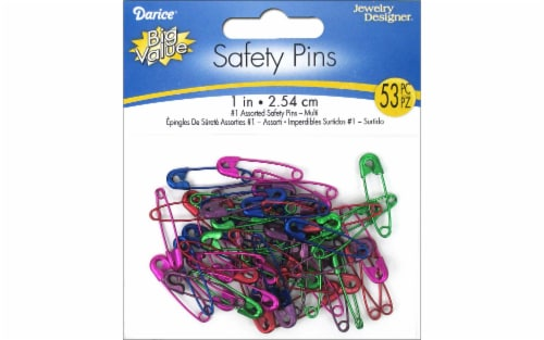 Darice® Jewelry Designer® Assorted Safety Pins Perspective: front