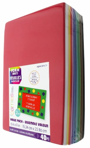 Darice Foamies Foam Sheets Value Pack - 40 Pack Perspective: front
