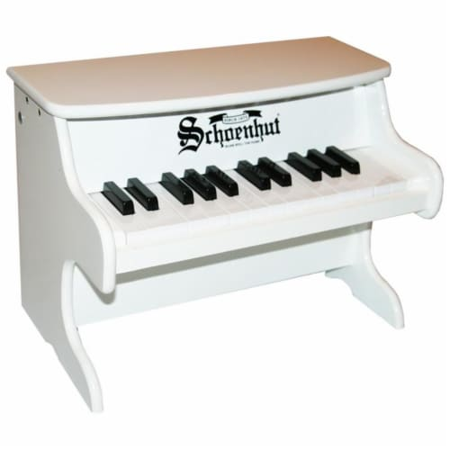 Schoenhut Toy Piano 2522W 25key White My First Piano II Perspective: front