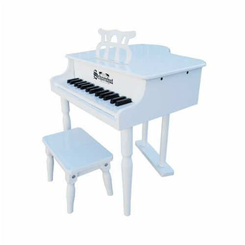 Schoenhut 309GW White 32 Key Classic Baby Grand Perspective: front