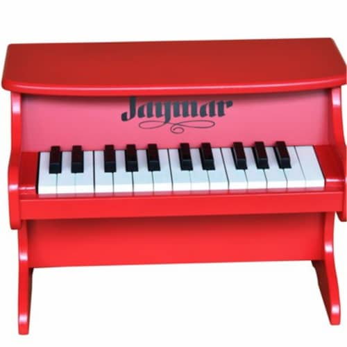 Schoenhut 8225R 25 Key Jaymar Table Top Piano, Red Perspective: front