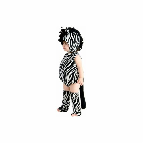 Princess Paradise 249868 Zaney Zebra Infant Costume for 6 - 12 Months, Black & White Perspective: front
