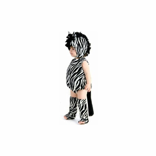 Princess Paradise 249869 Zaney Zebra Toddlee Costume for 12 - 18 Months, Black & White Perspective: front