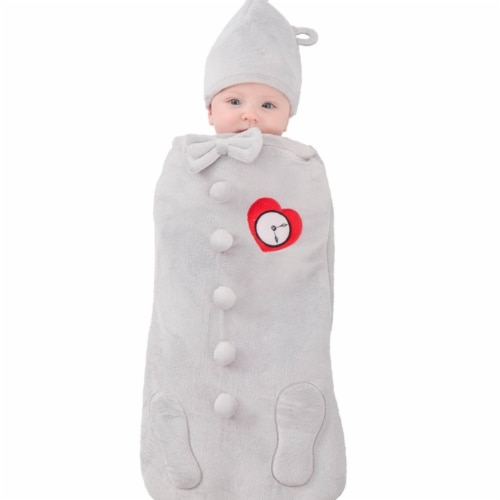 Prin5500 280649 The Wizard of Oz Tin Man Newborn Swaddle Costume Perspective: front