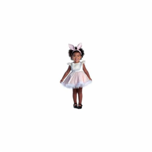 Princess Paradise 249882 Ivy the Bunny Infant Costume for 6 - 12 Months, White Perspective: front