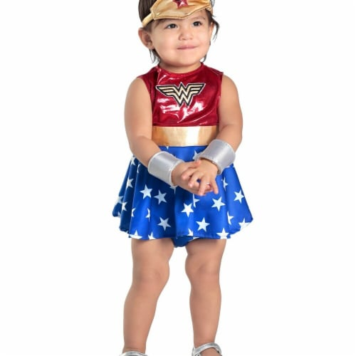 Princess Paradise 278057 Halloween Baby Wonder Woman Dress & Diaper Cover Set Costume - 0-6 M Perspective: front