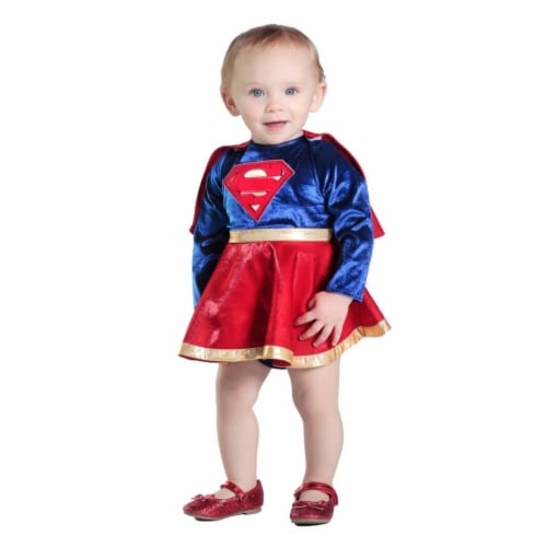 Prin5500 280469 Baby Supergirl Dress & Diaper Cover Set Costume, 12-18 Months Perspective: front