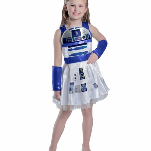 Princess Paradise 278069 Halloween Girls Classic Star Wars R2D2 Dress Costume - Extra Small Perspective: front