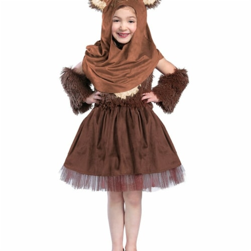 Princess Paradise 278080 Halloween Girls Classic Star Wars Wicket Dress Costume - Extra Small Perspective: front