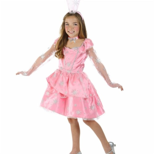 Prin5500 280875 The Wizard of Oz Glinda Sassy Girls Costume, Large 10 Perspective: front