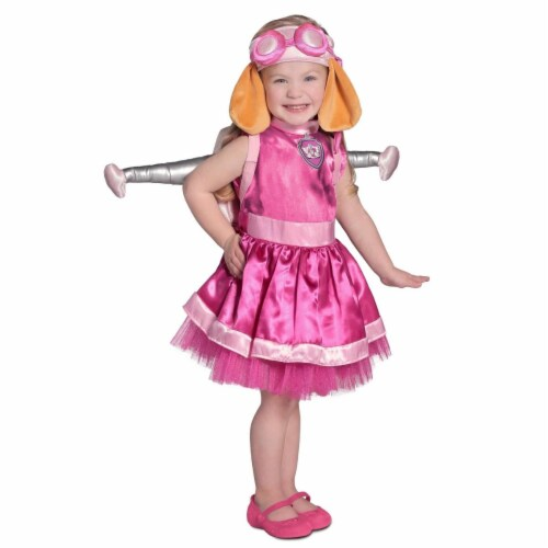 Princess Paradise 249851 Deluxe Paw Patrol Skye Costume for 12 - 18 Months, Pink Perspective: front