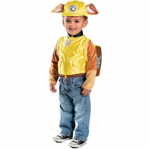 Princess Paradise 273510 Disney Jr.s Paw Patrol Rubble Deluxe Toddler Costume - Extra Small Perspective: front