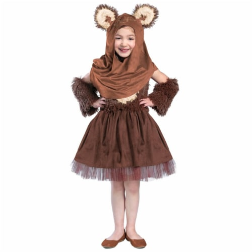 Princess Paradise 278078 Halloween Girls Classic Star Wars Wicket Dress Costume - Small Perspective: front