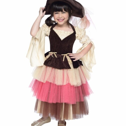 Princess Paradise 240667 Deluxe Ombre Girls Pirate Dress & Hat - Large 10 Perspective: front