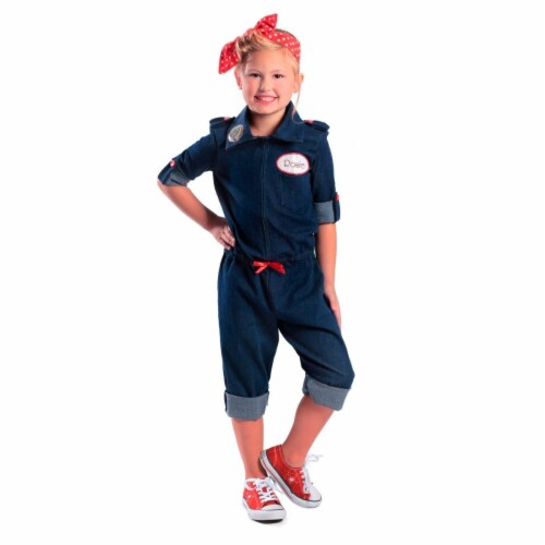Princess 410323 Girls Rosie the Riveter Child Costume - Extra Small Perspective: front