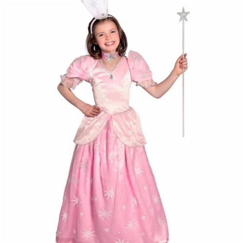 Prin5500 280642 The Wizard of Oz Glinda Girls Pocket Princess Costume, Extra Large Perspective: front