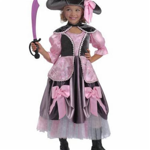 Princess Paradise 244110 Vivian the Pirate Child Costume - Black & Pink, Extra Large Perspective: front