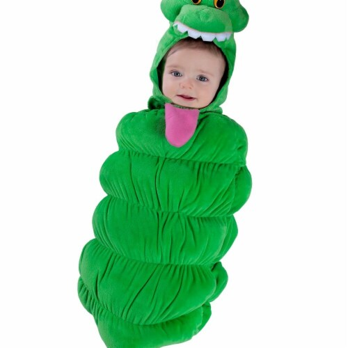 Princess Paradise 278086 Halloween Toddler Ghostbusters Slimer Swaddle Costume - 0-3 Month Perspective: front