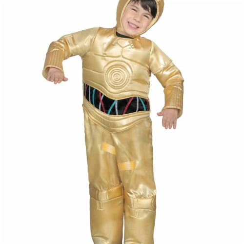 Princess Paradise 278089 Halloween Boys Classic Star Wars Premium C-3Po Jumpsuit Costume - Sm Perspective: front