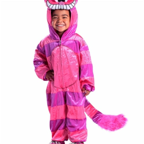 Princess 410100 Girls Cheshire Cat Jumpsuit Child Costume - Medium Perspective: front