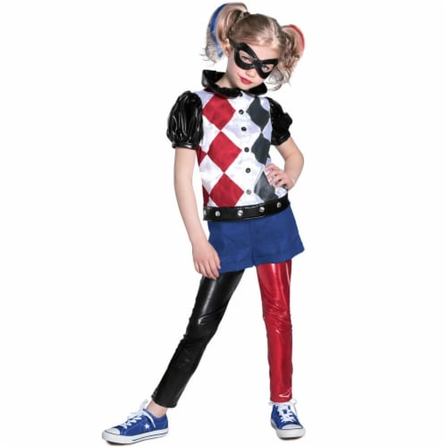 Princess Paradise 273718 DC Superhero Girls Harley Quinn Deluxe Child Costume - Medium Perspective: front