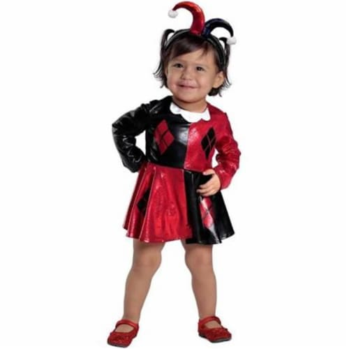Princess Paradise 270214 Girls Harley Quinn Costume Dress & Diaper Cover Set for 18 Months - Perspective: front