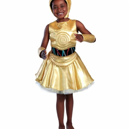 Princess Paradise 278072 Halloween Girls Classic Star Wars C-3Po Dress Costume - Small Perspective: front