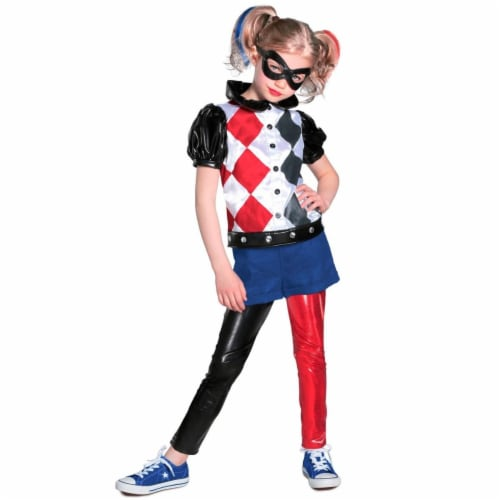 Princess 410327 Girls DC Comic Harley Quinn Premium Child Costume - Extra Large Perspective: front