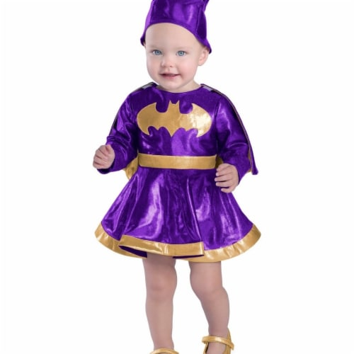 Prin5500 280682 Baby Batgirl Dress & Diaper Cover Set Costume, 18 Months-2T Perspective: front