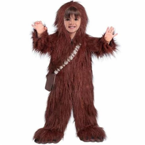 Princess Paradise 249825 Classic Star Wars Premium Toddler Chewbacca - Brown, Small Perspective: front