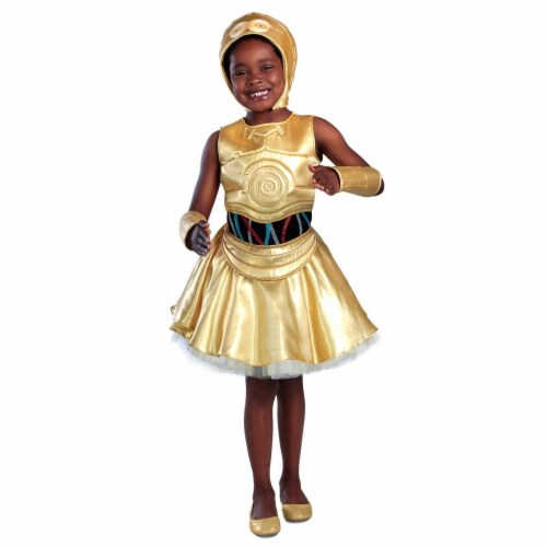 Princess Paradise 278071 Halloween Girls Classic Star Wars C-3Po Dress Costume - Medium Perspective: front
