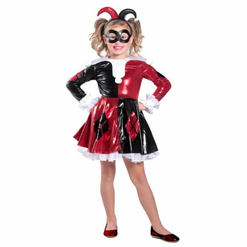 Princess Paradise 270208 Harley Quinn Premium Child Dress - Medium Perspective: front