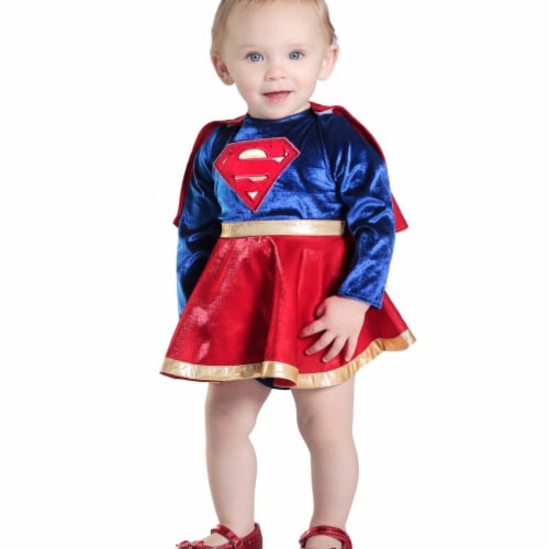 Prin5500 280468 Baby Supergirl Dress & Diaper Cover Set Costume, 6-12 Months Perspective: front
