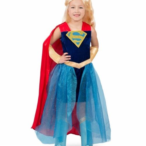 Princess Paradise 249844 Super Hero Girls Premium Child Supergirl Formalwear - Medium Perspective: front