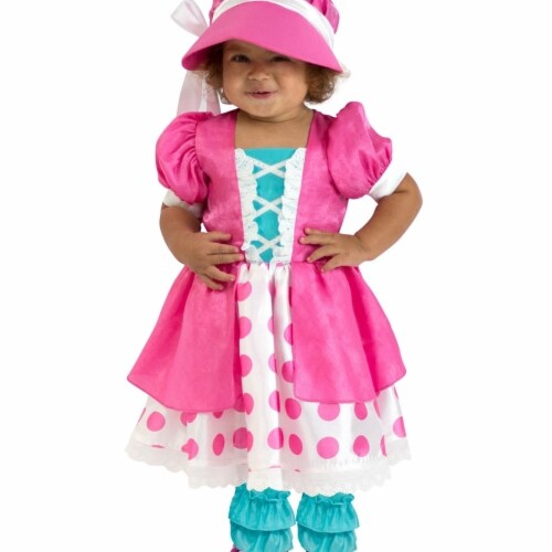Princess 410342 Girls Toddler Polka Dot Bo Peep Costume - NS Perspective: front