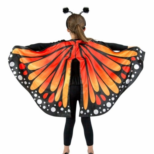 Princess 407775 Girls Monarch Butterfly Cape Child Costume - One Size Perspective: front