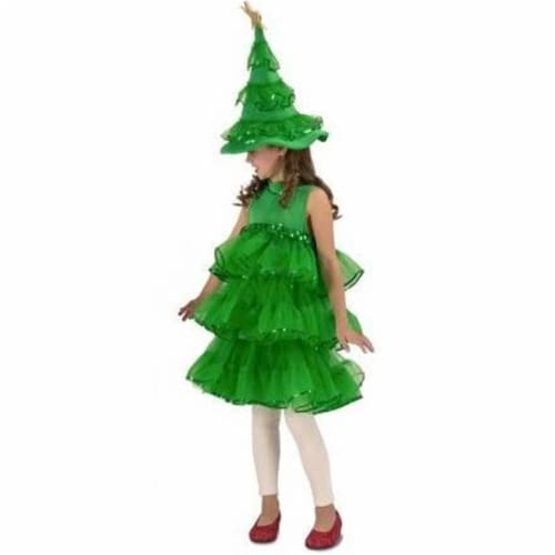 Princess Paradise 249925 Glitter Christmas Tree Child Costume for Girls, Ertra Small Perspective: front