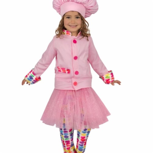 Princess 410237 Girls Princess Chef Child Costume - Medium Perspective: front