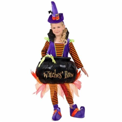 Princess Paradise 278040 Halloween Girls Cauldron Witch Costume - Medium Perspective: front