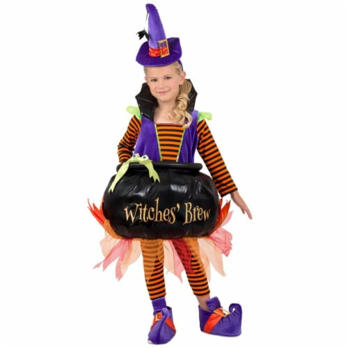 Princess Paradise 278043 Halloween Girls Cauldron Witch Costume - Extra Small Perspective: front
