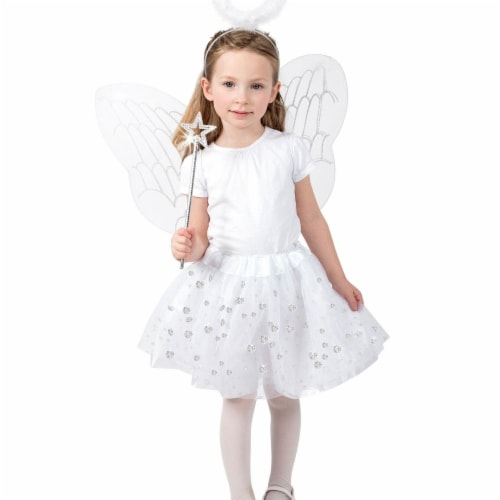 BuySeasons 402498 Girls Angel Skirt Set Costume, Medium 8 Perspective: front