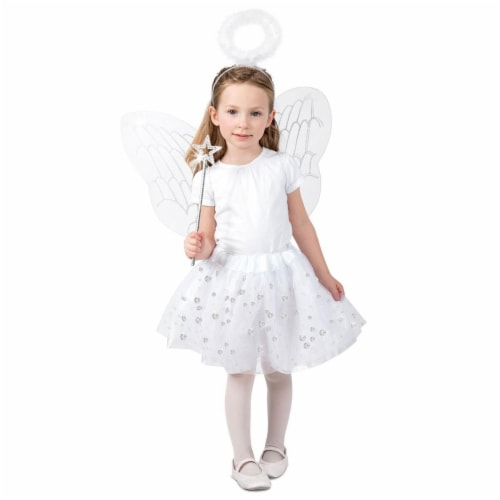 Princess Paradise 278193 Halloween Girls Angel Skirt Set Costume - Extra Small & Small Perspective: front
