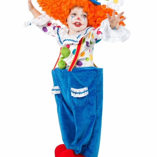 Princess Paradise 278146 Halloween Toddler Colorful Circus Clown Costume - Medium Perspective: front