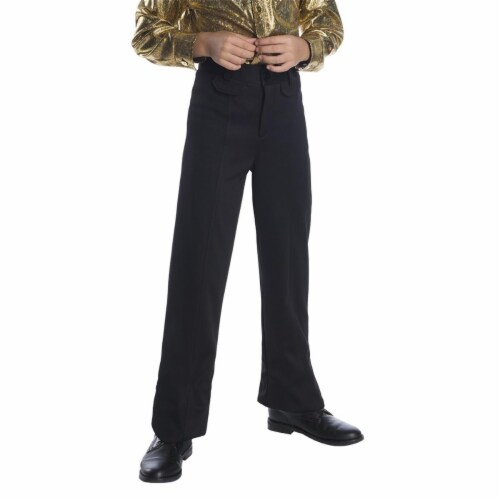 Charades Costumes 276741 Halloween Boys Black Disco Pants - Medium Perspective: front