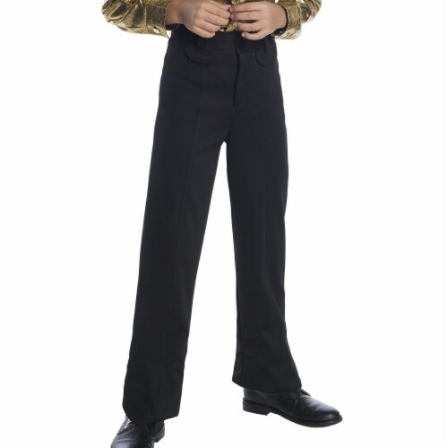 Charades Costumes 276742 Halloween Boys Black Disco Pants - Small Perspective: front