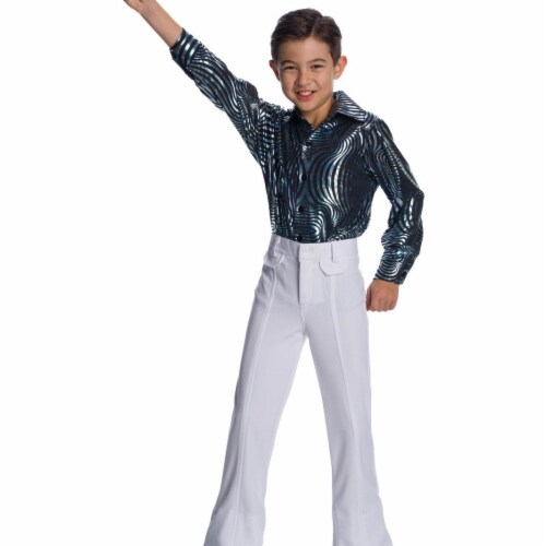 Charades Costumes 280480 Boys White Disco Pants, Medium 8-10 Perspective: front