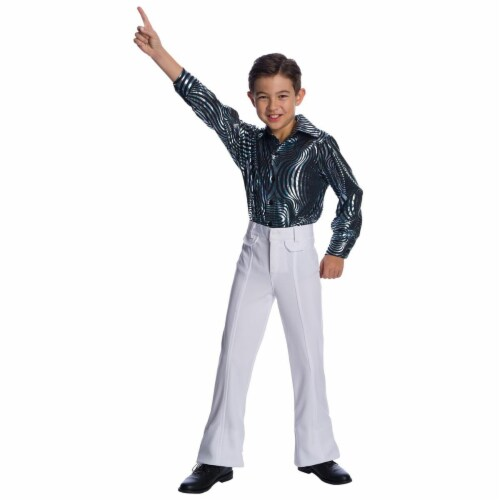 Charades Costumes 276772 Halloween Boys Sychedelic Swirl Disco Shirt - Large Perspective: front