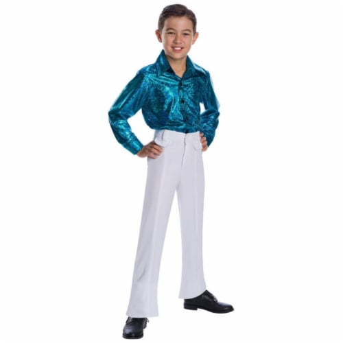 Charades Costumes 280486 Boys Crocodile Skin Disco Shirt, Extra Large 12-14 Perspective: front